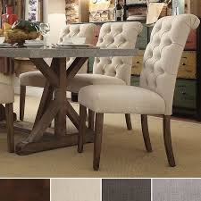 dining table parson chairs interior: offer extra seating in your formal dining room at special family gatherings with this versatile pair of parsons chairs offering traditional features