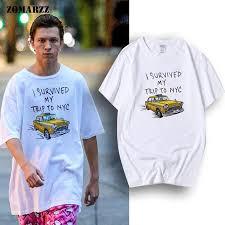 Spiderman T-shirt Tom Holland Tees <b>I Survived My Trip</b> To NYC ...