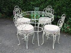 wrought iron iron furniture and irons on pinterest antique rod iron patio
