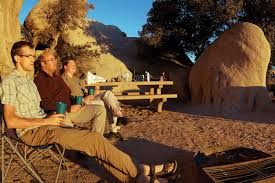 readers essays on favorite spots to recreate high country news folks bask in the sunset at the hidden valley campground in joshua tree national park