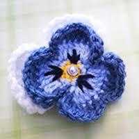 Pansy <b>Flower</b> Crochet <b>Pattern</b>