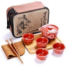 Походный <b>набор</b> для <b>чайной</b> церемонии Red Dragon, <b>8 предметов</b>