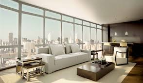 beautiful modern living room for small apartment with white interior furnished with white sofa and chairs also completed with small kitchen design ideas amazing modern living