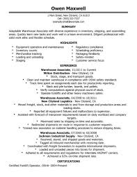 Resume Examples  Warehouse Resume Objectives  resume sample for         Resume Examples  Adaptable Warehouse Resume Summary Objective With Highlights In Staging And Experience As Warehouse