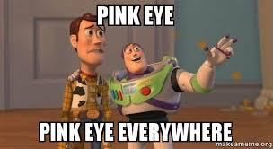 Pink eye Pink eye everywhere - Buzz and Woody (Toy Story) Meme ... via Relatably.com
