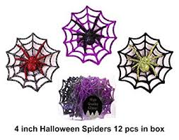 Christmas Traditions 4 inch Glittered <b>Halloween Decorations Spider</b> ...