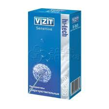 <b>Презервативы</b> Vizit <b>Hi-Tech Sensitive</b>(сверхчувствительный) <b>N12</b> ...