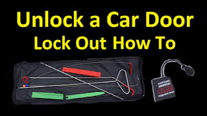 HOW TO <b>UNLOCK</b> A CAR DOOR ~ USE A LOCKOUT <b>KIT</b> ACCESS ...