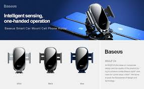 <b>Baseus</b> Intelligent Sensing Car Phone Holder For iPhone 11Pro XS ...