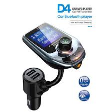 Bluetooth FM Transmitter for car Aux Adapter Dual USB <b>Car Charger</b> ...