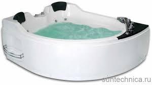 <b>Гидромассажная акриловая ванна</b> Gemy G9086 B L/R, <b>170 х 133</b> см