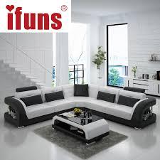 ifuns china export modern design l shape sectional sofa set living room furniture corner chaise top grain italian leather fr buy italian furniture online