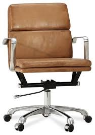 nash brown leather office chairs