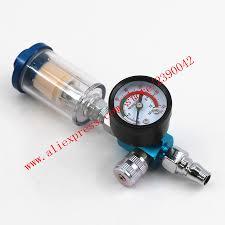 Scratch <b>HVLP Spray</b> Gun <b>Air Regulator</b> Gauge & In Line Water Trap ...