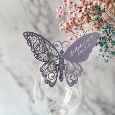 60 шт. бабочка Лазерная карточка с именем и местом <b>стаканчик</b> ...