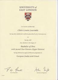 claire luscombe bayt com my degree was an honours degree graded 2 1