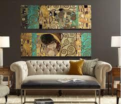 Cheap Artisti Gustav Klimt Il Bacio <b>e home</b> decor wall art pittura ...