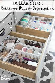 bathroom drawer organization: learn how a few items from the local dollar store can change your bathroom drawer organization