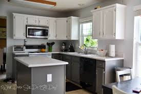 beautiful white kitchen cabinets:  white painted kitchen cabinets before after alluring remodelaholic kitchen delightful much better view as you enter the house now just ignore the vining