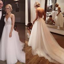 New 2020 <b>Summer Beach White</b> A Line Lace Bohemian <b>Wedding</b> ...
