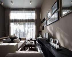 elegant living room beige sofa modern townhome in bangkok black beige living room