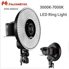 <b>FALCON EYES</b> DVR 300DVC 300 Ring LED Panel 5600K Light ...