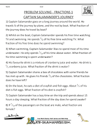 Math Word Problems for Kids3rd grade math word problems fractions 1 captain salamanders journey