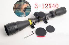 <b>Tactical 3-12x40 Duplex Reticle</b> Rifle Scope Sight&20mm rail Mount ...