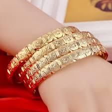 HUAQI 24K реальное <b>золото</b> браслет <b>ювелирные</b> изделия ...