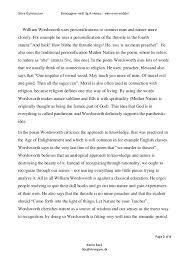 THE TABLES TURNED WILLIAM WORDSWORTH ESSAY
