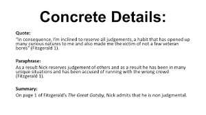 the great gatsby practice essay write a one paragraph literary 3 concrete