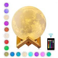 Rechargeable 3D Printed Moon <b>Night Light</b>