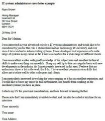 finance administrator cover letter example   misc      pinterest    it systems administrator cover letter example
