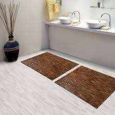 bathroom target bath rugs mats: brown teak bath mat on cozy parkay floor