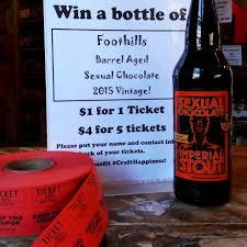 barrel aged 2015 sexual chocolate raffle ticket bruisin ales barrel aged 2015 sexual chocolate raffle ticket