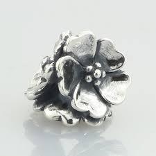 <b>100</b>% Genuine <b>925 Sterling</b> Silver Apple Blossom Charm Beads Fit ...