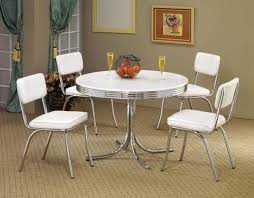 retro chrome dining chairs vintage