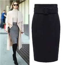 MWSFH <b>new</b> fashion <b>autumn winter cotton</b> plus size high waist saias ...