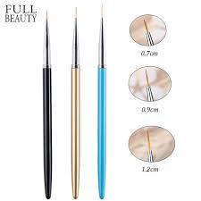 <b>3pcs</b>/<b>Set Nail Art</b> Liner Painting Brush Set Professional Painting Pen ...