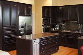 beech wood kitchen cabinets: kitchen refaced with stained beechwood espresso finish traditional kitchen