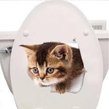 3D <b>Cats</b> Wall <b>Sticker</b> Hole View <b>Toilet Stickers Bathroom</b> Living ...
