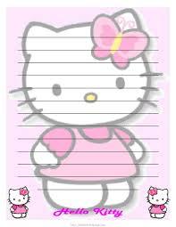 hello kitty printable letter stationary hello kitty forever cute hello kitty printable letter paper stationary
