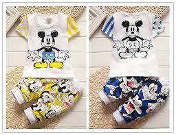 2pc cotton kids baby boys Cartoon T-shirt & shorts Set Outfits ...