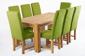 Fabric Dining Room Chairs Uk Kensington Green Dining Chair With Chunky Oak Legs Funiquecouk