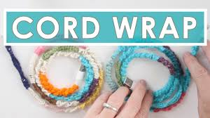 Phone Cord DIY with <b>Knotted</b> Wrapped Yarn   Summer <b>Knit</b> Series ...