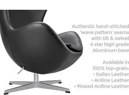 egg chair by arne jacobsen leather platinum replica aniline leather arne jacobsen egg chair replica