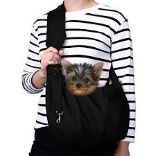 TOMKAS Small <b>Dog Cat Carrier</b> Sling Hands Free <b>Pet</b> Puppy