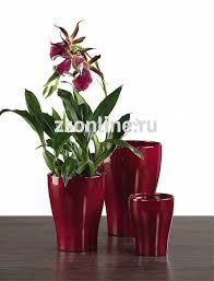 <b>Кашпо керамическое</b> для орхидеи 608 <b>Dark Red</b> D13см, 47563S ...