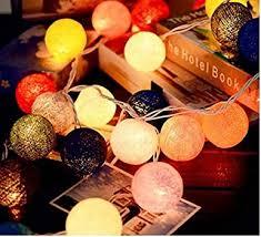 Buy Shining Decors 20 Battery Operated <b>Cotton Ball LED String</b> ...