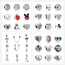 <b>1pc european</b> silver mickey minnie diy bead fit Original Pandora ...